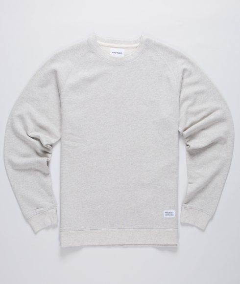 Norse Projects soft cotton raglan sleeve sweat with a ribbed crew neck, cuff and hem.