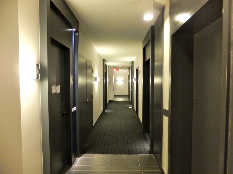 Condminium Hallways Partially Completed Building Interior Photos