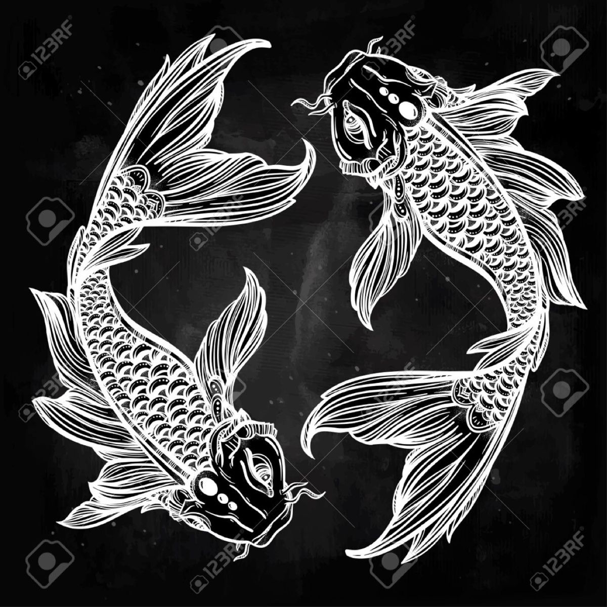 Pinned from pin it for iphone koi in 2019 black paper - Carp wallpaper iphone ...