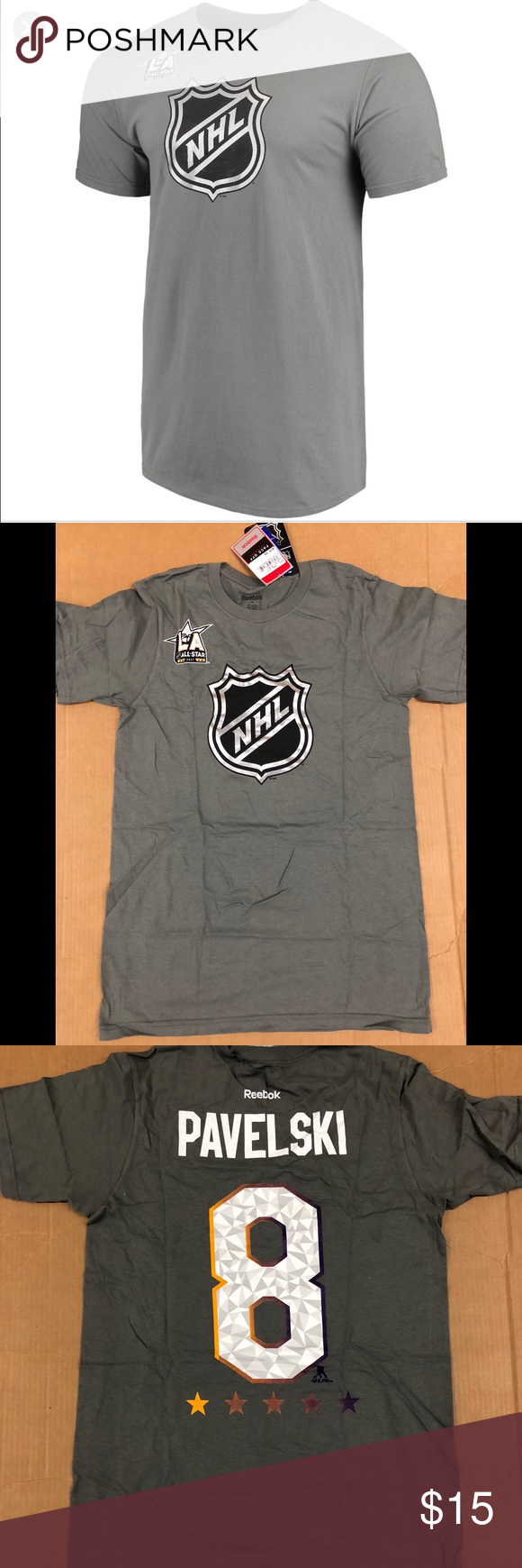 512866fcf51 E Reebok NHL all stars Pavelski gray T-shirt NWT NWT 100% cotton Reebok  Shirts Tees - Short Sleeve