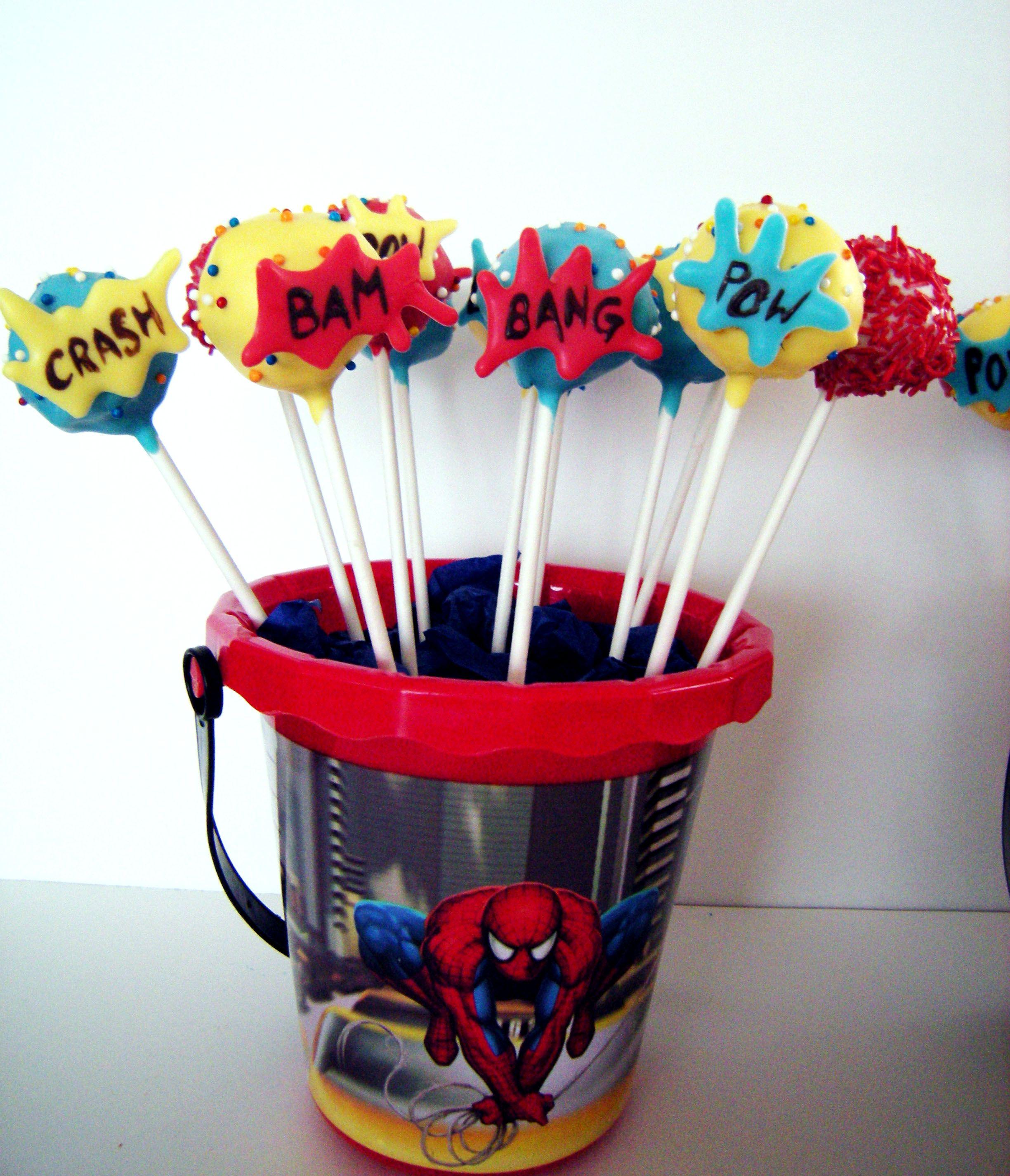 Easy Spiderman Cake Pops