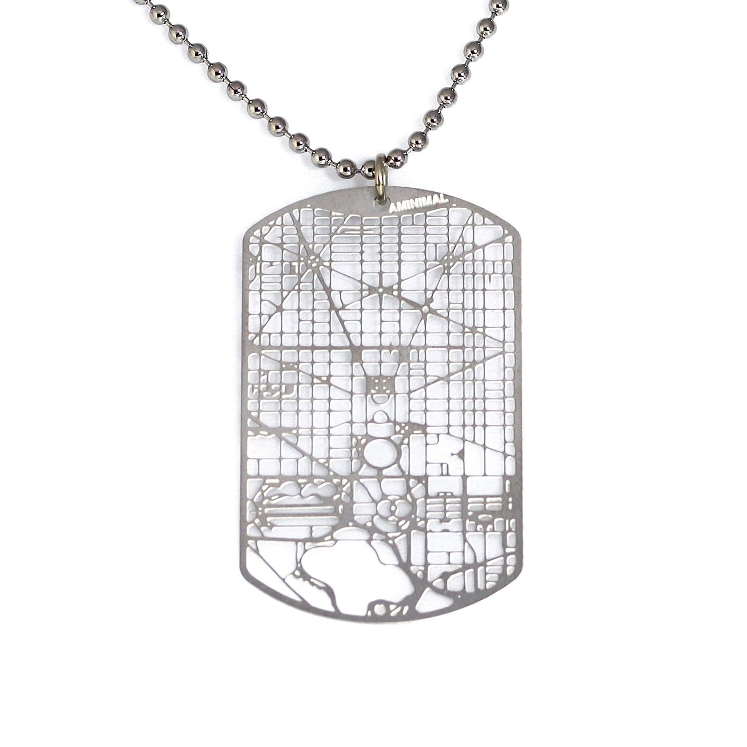 Aminimal Studio | Urban Gridded Dogtag Jewelry Collection