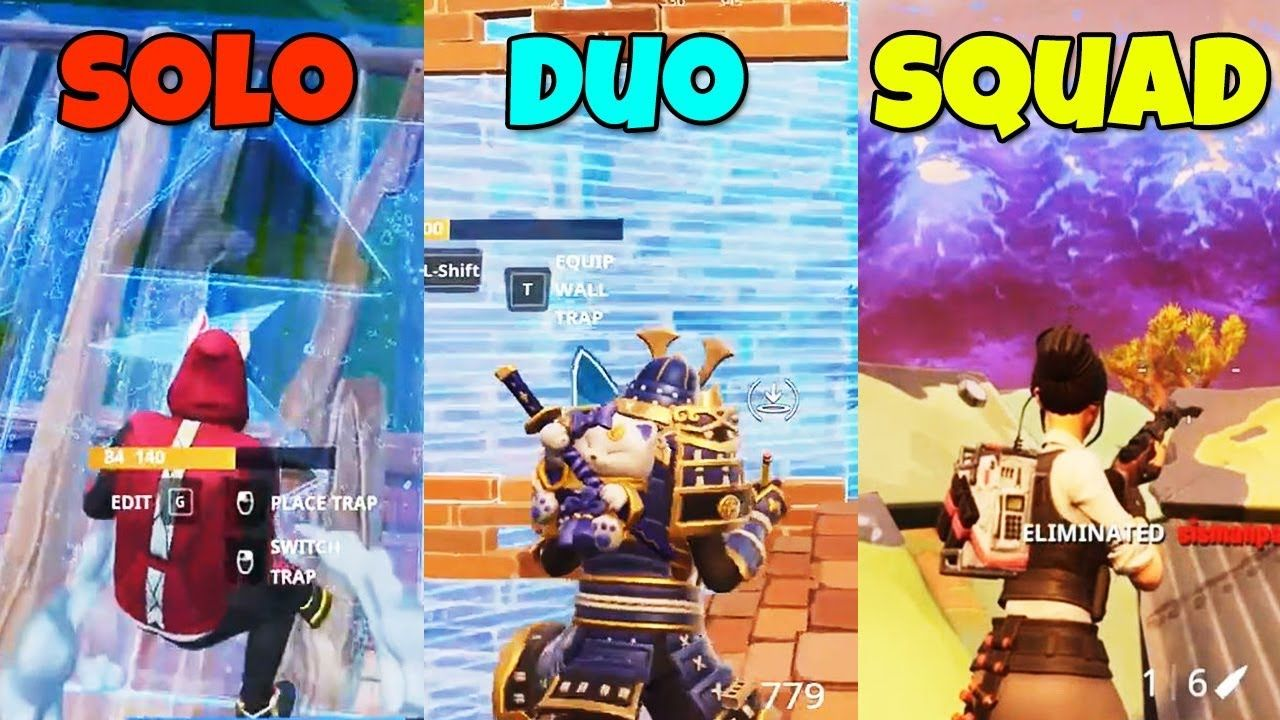 Solo Vs Duo Vs Squad In Fortnite Battle Royale Br 96 Youtube