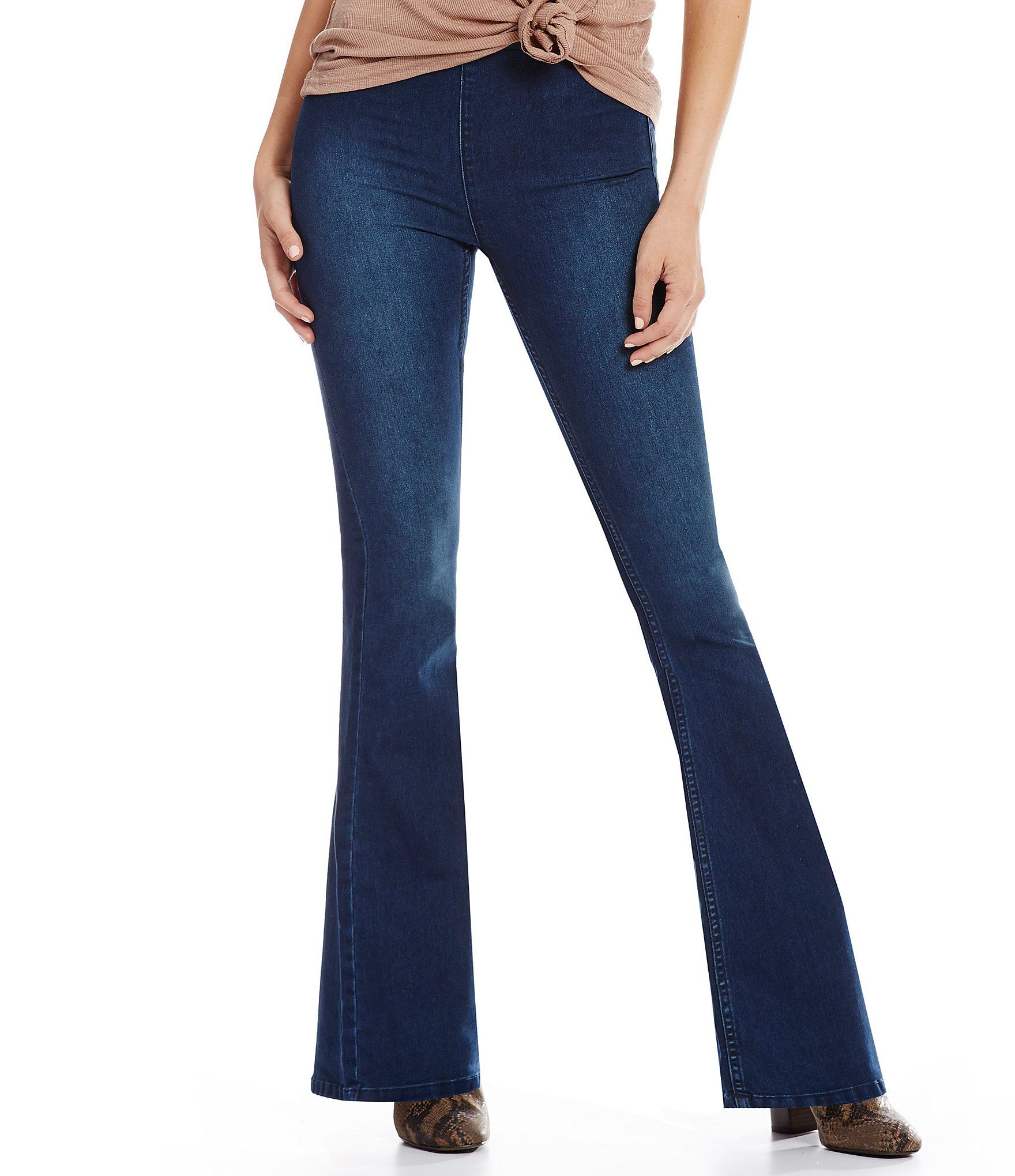 Free People We the Free Gummy Flared Pull-On Jeans | Dillard's