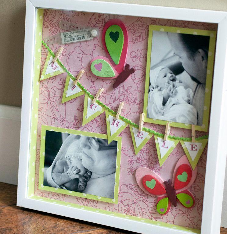 DIY Shadowbox: Michele\'s Pink Butterflies | Bilderrahmen | Pinterest ...