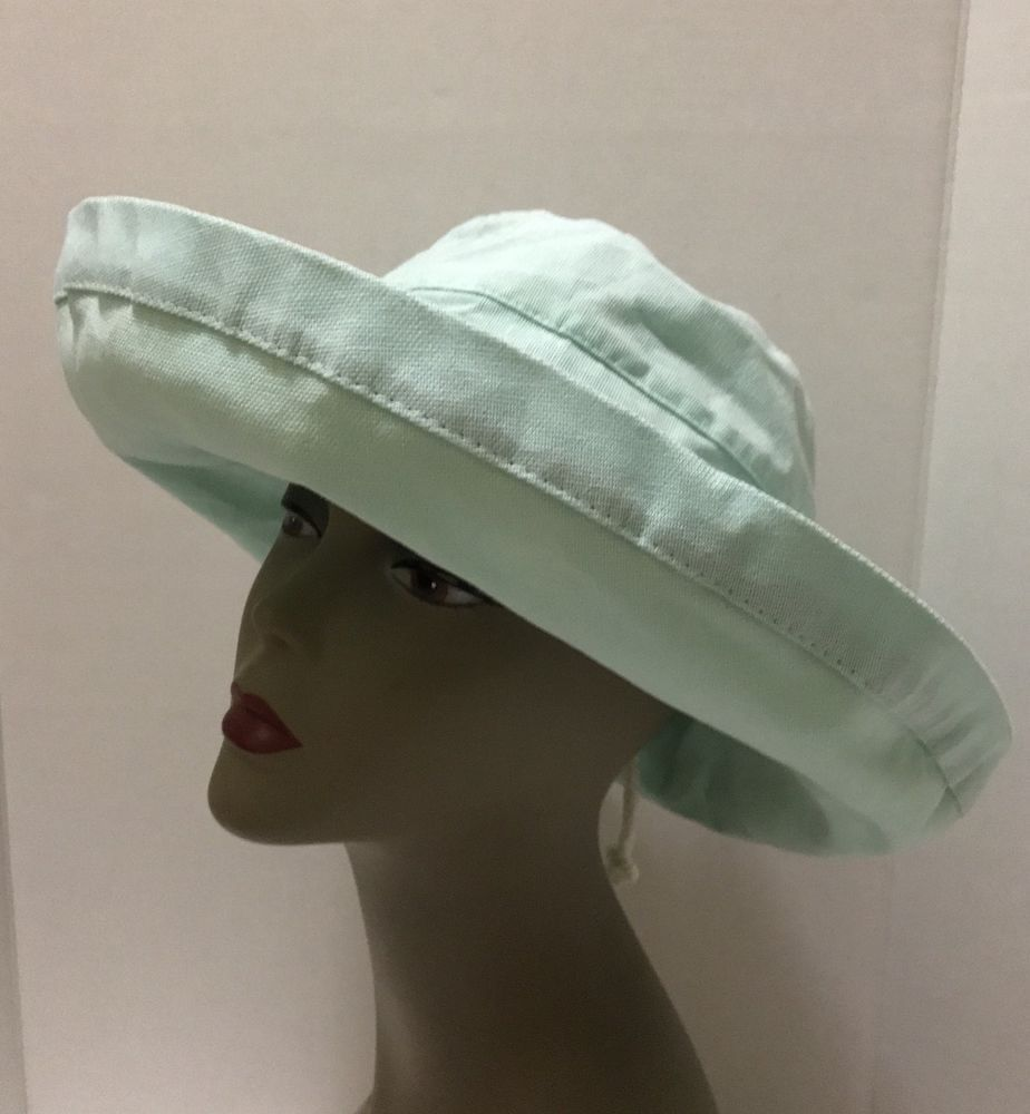 f274a7d82 Scala Women's Cotton Sun Hat UPF 50+ Big Brim Light Aqua Blue ...