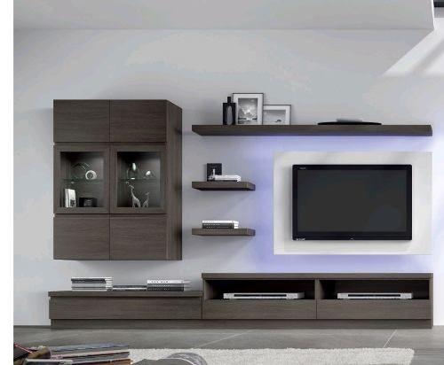Modular Lcd Rack Panel Tv Moderno Living Le Charpentier L102