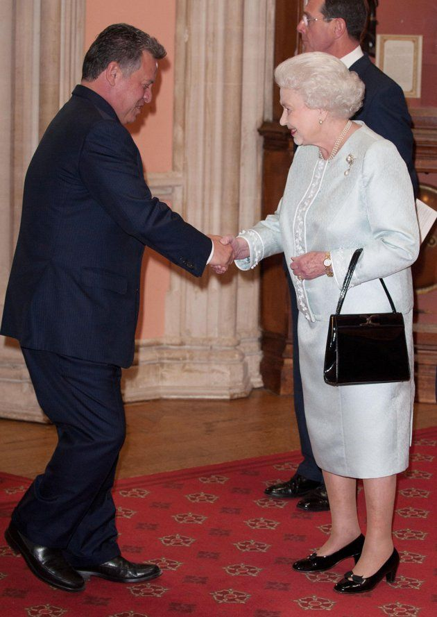 63d44eecf7c73c King Abdullah of Jordan is greeted by Britain s Queen Elizabeth as he  arrives for a lunch hosted by Queen Elizabeth to mark her Diamond Jubilee  at Windsor ...