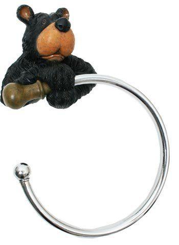 Black Bear Bathroom Towel Rack Holder For Your Decor Lyblkbearbath