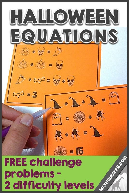 Halloween Equations a fun free math download for problem – Halloween Algebra Worksheets