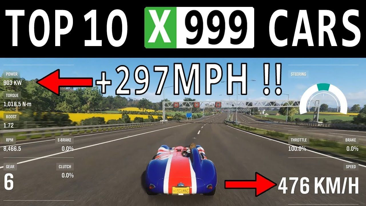 Top 10 Fastest Cars Fully Upgraded In Forza Horizon 4 Top Speed