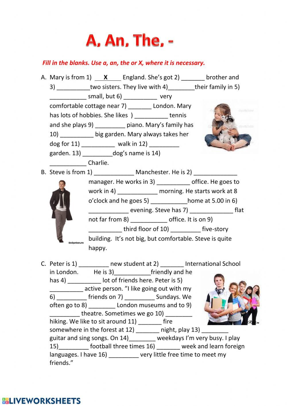 Articles 2 Interactive worksheet in 2020 Articles