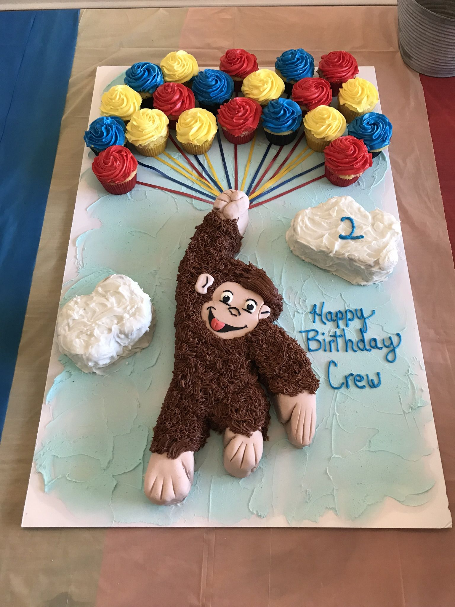 Superb Curious George Flying High Birthday Cake Curious George Birthday Funny Birthday Cards Online Sheoxdamsfinfo