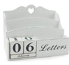 Letter Rack and Block Calendar