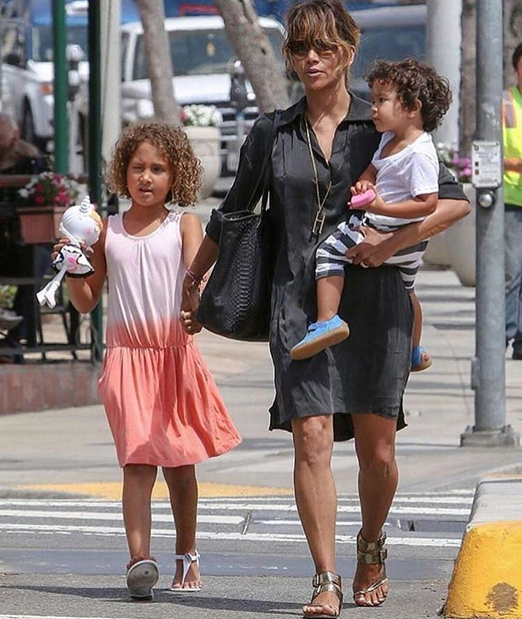 Halle Berry and kids