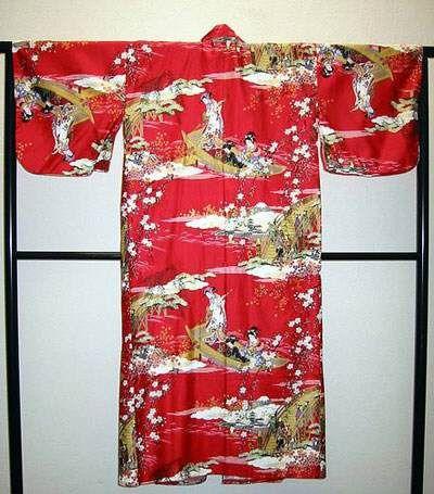 Kimono Ukiyoe rot