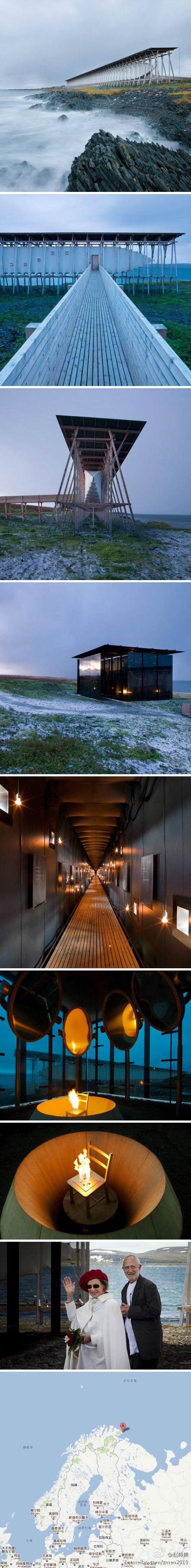 Steilneset Memorial in Vardø, Norway by Peter Zumthor and Louise Bourgeois
