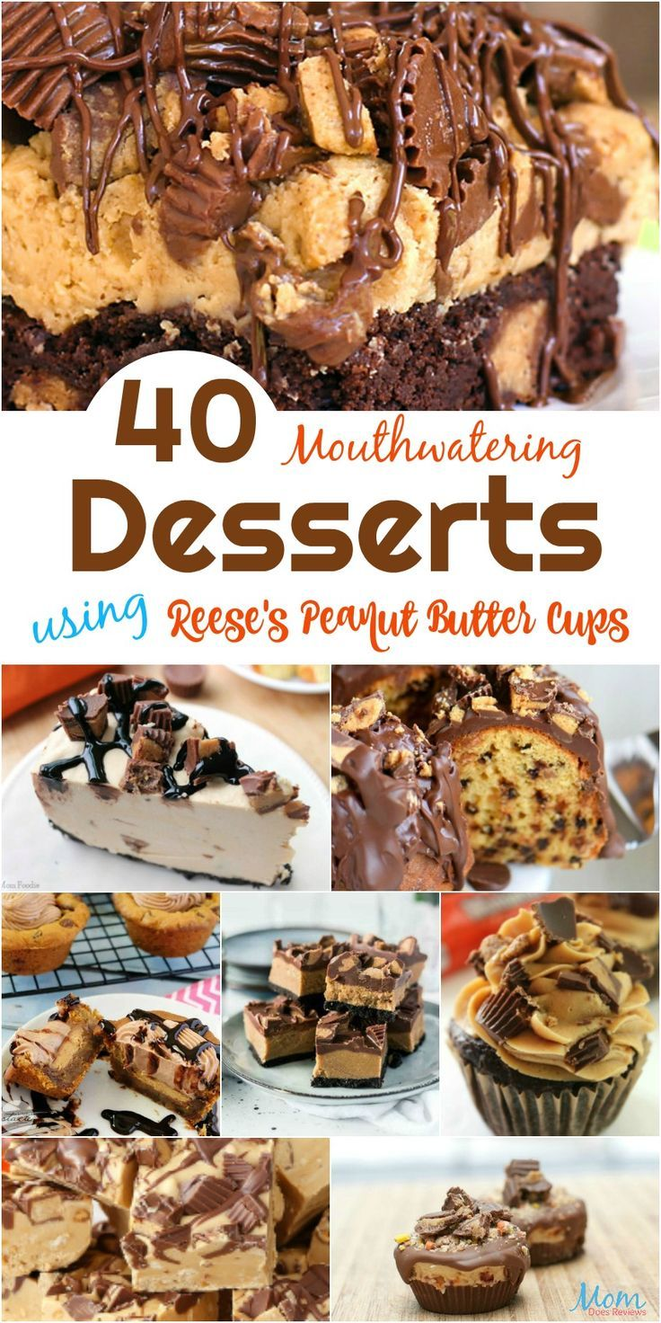 40 Mouthwatering Desserts using Reese's Peanut Butter Cups