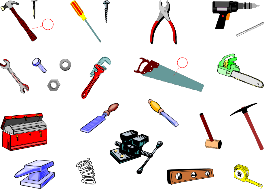 tools vocabulary us english pictures and sound