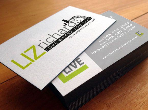 Business cards for liz richards real estate denver co l3dezign business cards for liz richards real estate denver co colourmoves