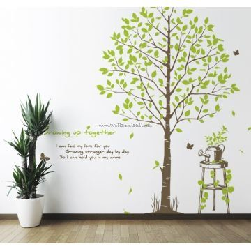 Growing Up Together Tree Wall Decals
