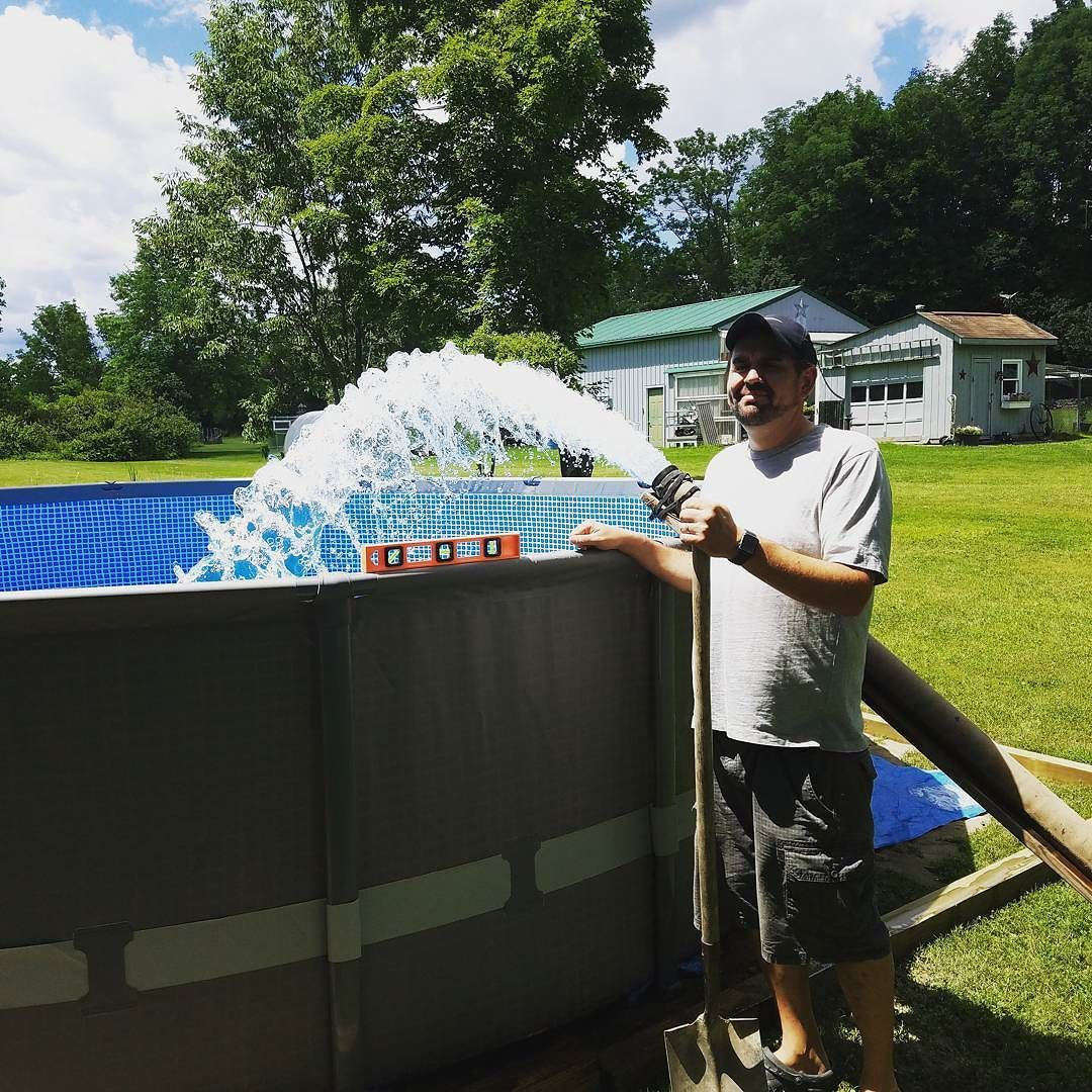 With A Little Bit Of Intuition And Some Youtube Tutorials Putting Together Your Own Above Ground Pool Can Be In Ground Pools Water Delivery Above Ground Pool