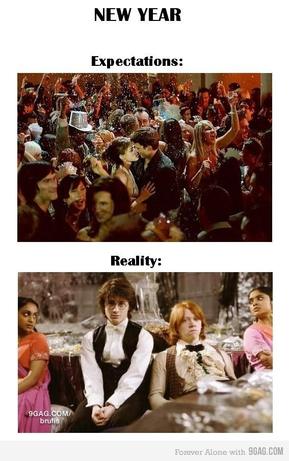 New Year Harry Potter Funny Funny Pictures Expectation Vs Reality