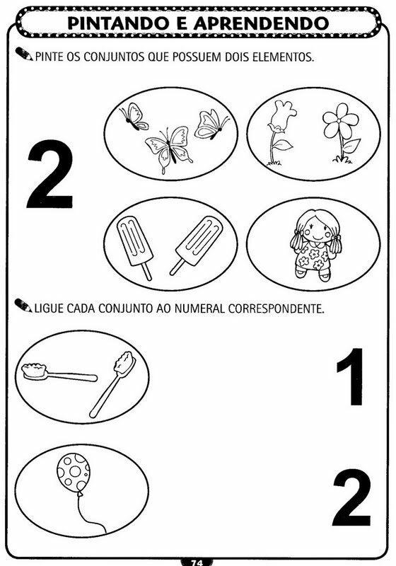 Pin De Elys Em Atividades Numeros Com Imagens Educacao