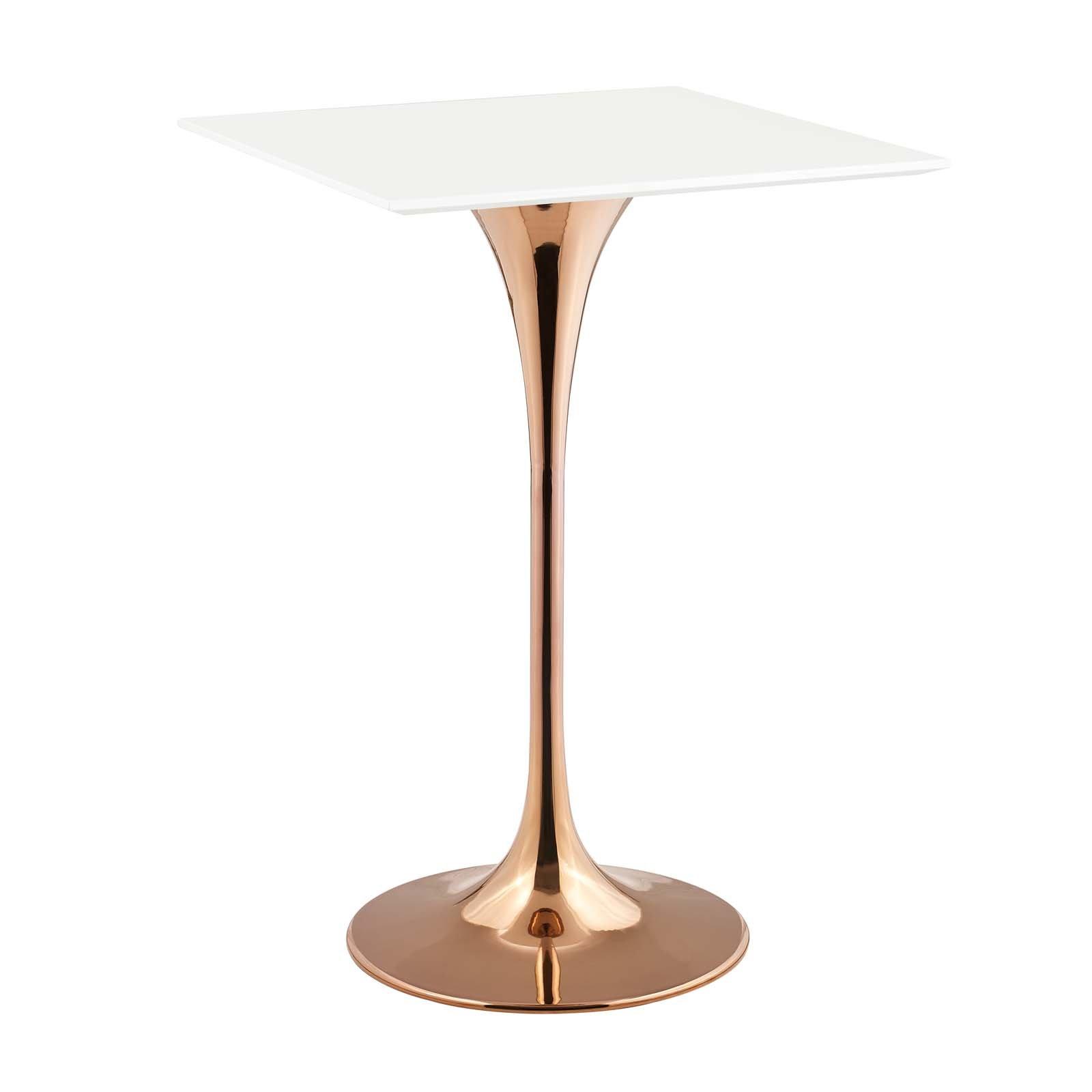 Lippa 28 Square Bar Table Rose White Eei 3266 Ros Whi Gold