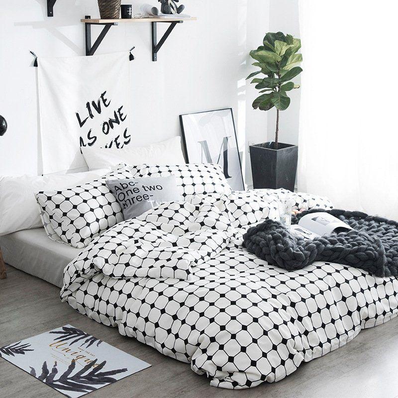 Black And White Gingham Bedding Bedspread Bedroom Sets