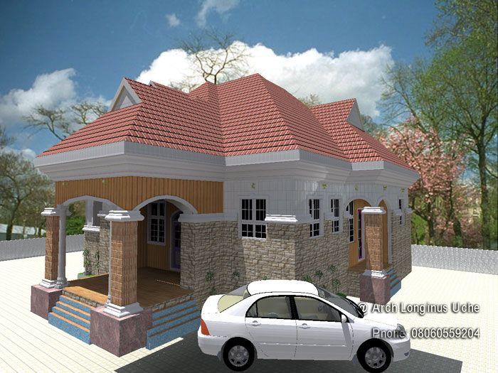 3D architectural building plan design of bungalow house-3 ...