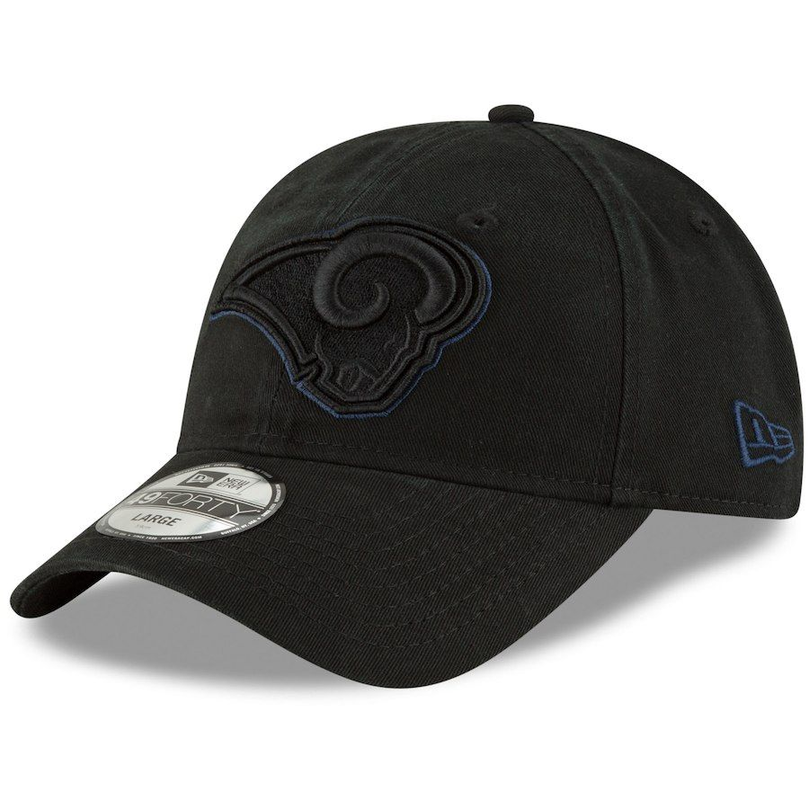 designer fashion dc3ba f4c21 Men s Los Angeles Rams New Era Black Core Pop 49FORTY Fitted Hat, Your  Price   27.99