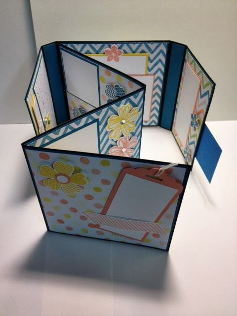 """I found a very fun tutorial for making this great """"Folding Photo Album."""" You can find the tutorial here at Mariana's You Tube Post.   ..."""