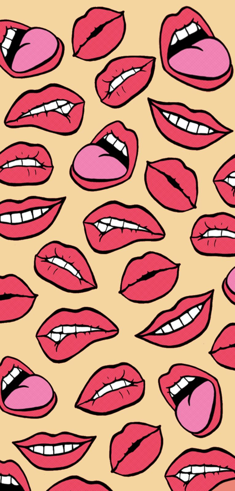 Gocase Lovegocase Wallpaper Mouths Redlips Cute Disney