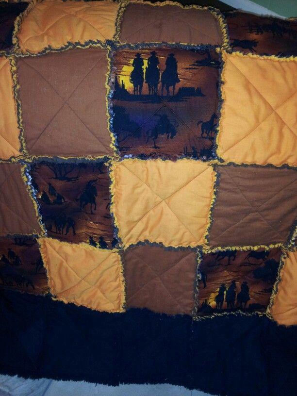 Cowboy rag quilt