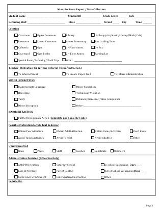 Electronic Referral Form  School Things    Data