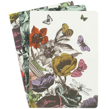 Paperchase secret garden pack of 3 A5 blank, patterned and lined print notebooks £6