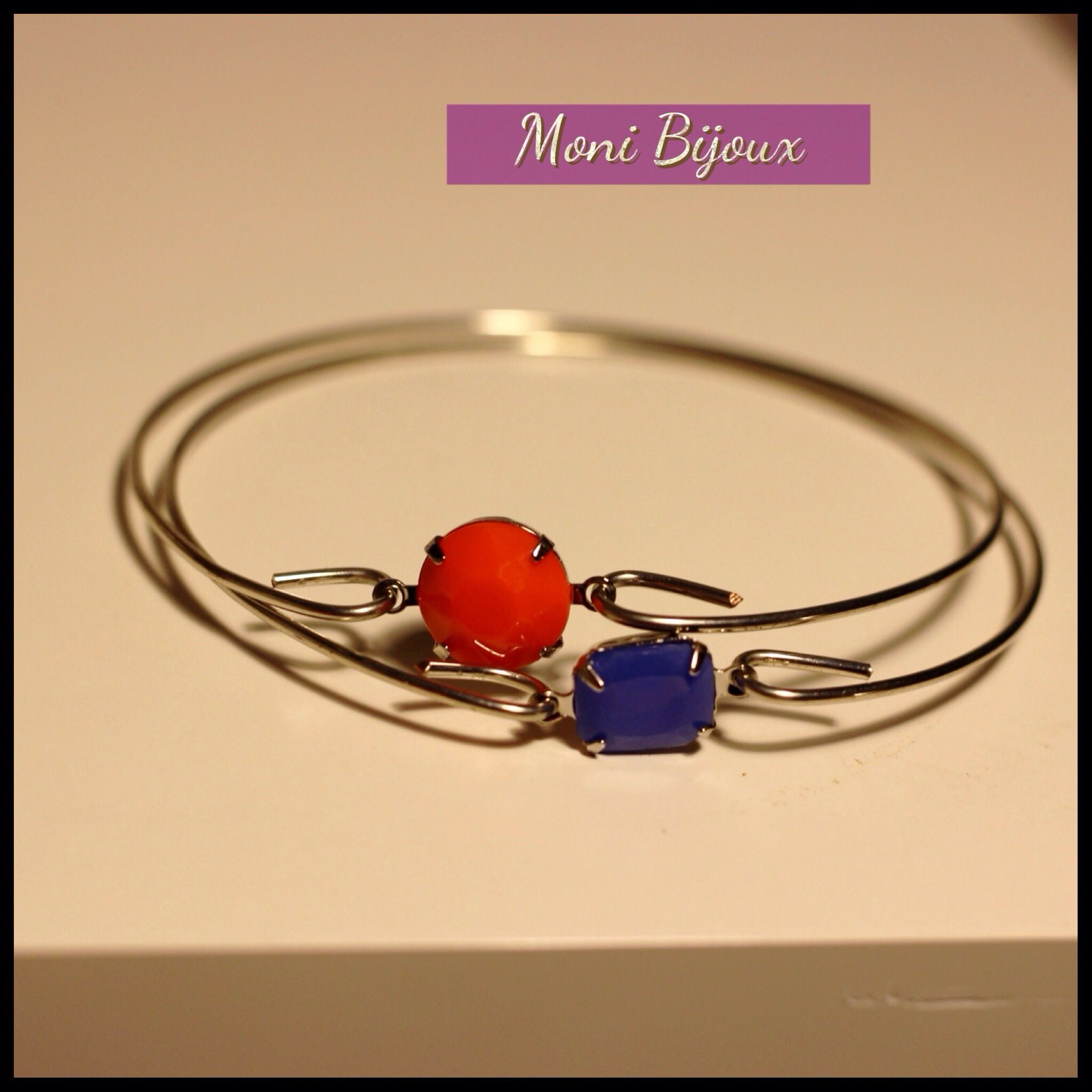 Hand made vintage stone bracelet !!