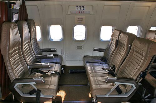 look southwest inside a airplane
