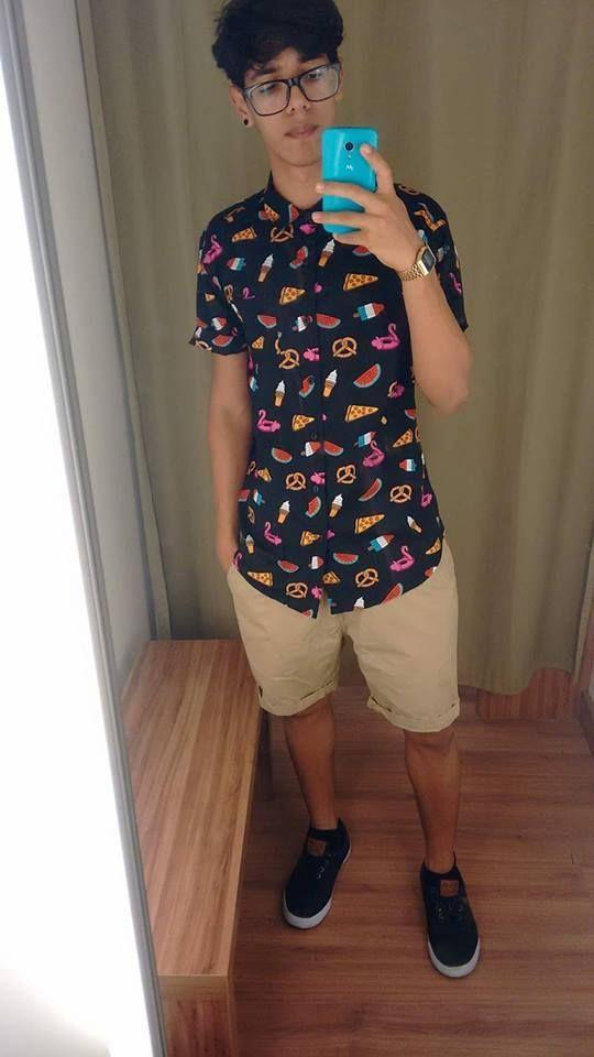 CAMISA ESTAMPADA | Moda hombre, Estilos de moda masculina