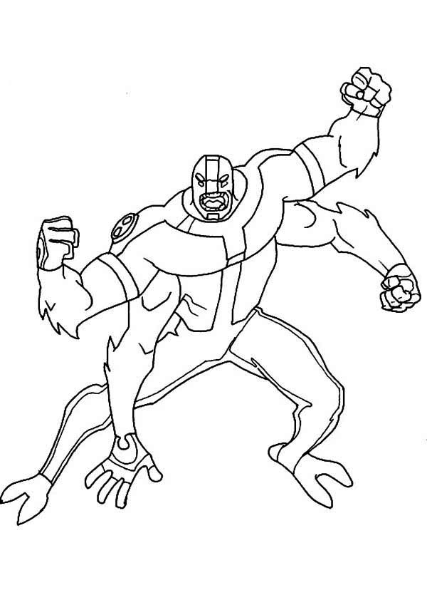 Four Arms Attacking Position Coloring Page Download Print Online Coloring Pages For Free Color Nimbu Coloring Pages Online Coloring Pages Online Coloring