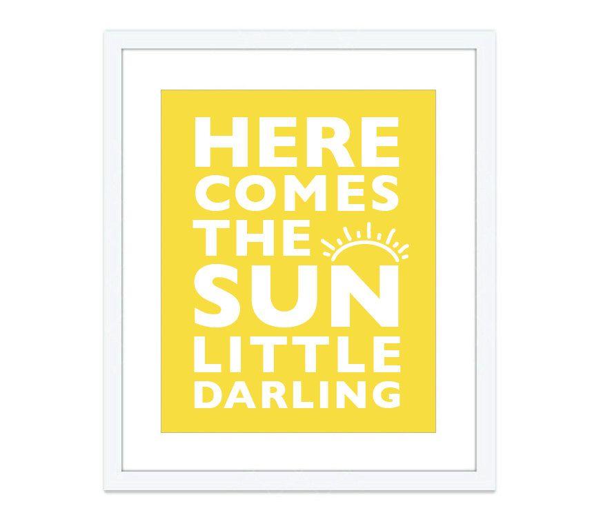 Here Comes The Sun Art Print - Nursery Decor - Nursery Wall Art ...