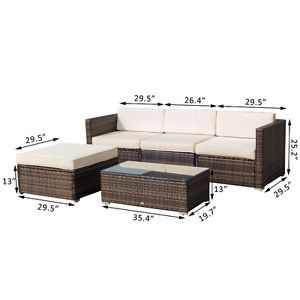 5pc Patio Rattan Sofa Set Outdoor Garden Wicker Sectional Furnit City Of Toronto Toronto Gta Image 2 Rattan Sofa Sofa Set Outdoor Sectional Sofa