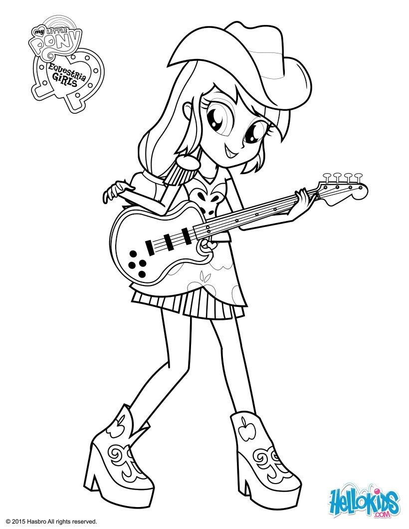My little pony rainbow rocks coloring pages games - Applejackthis Honest Sweet And Friendly Girl Is A Fun My Little Pony Coloring Page To Decorate For Your Room Or To Give A Friend Try Using The Online