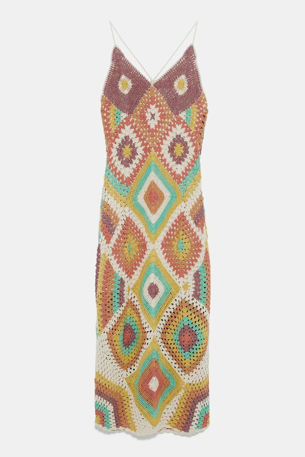 5987f52dd Colorful crocheted dress | SWAGGAR | Dresses, Summer dresses, Junior ...