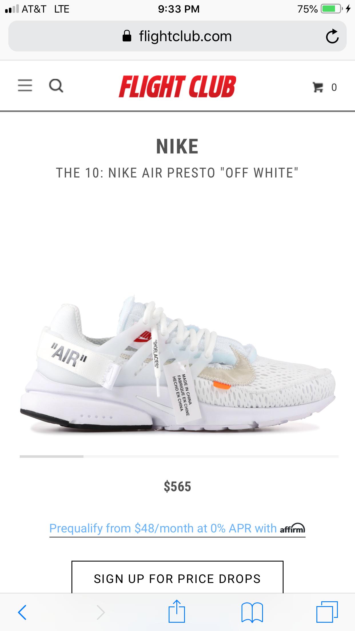 Nike off white presto | Nike air presto
