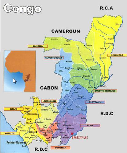 carte du congo brazzaville CARTE DU CONGO BRAZZA | How to speak french, Congo, Brazzaville