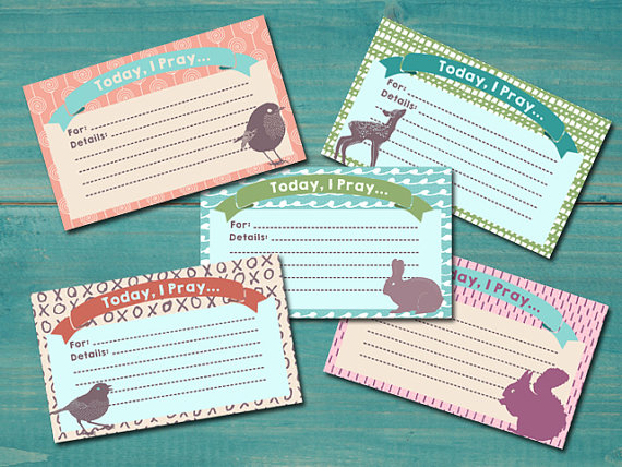image about Printable Index Cards 3x5 known as SALE! Printable Prayer Playing cards / Devotions / Prayer Magazine