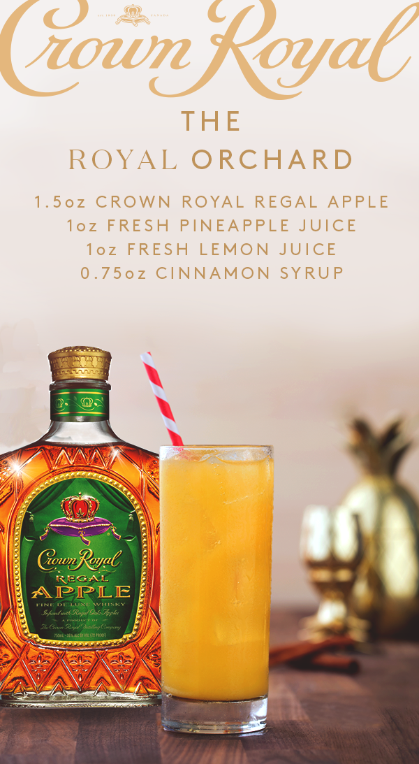 Drinks Made With Crown Apple : drinks, crown, apple, CROWN, ROYAL, RECIPES, Ideas, Crown, Royal,, Royal, Recipes,, Drinks