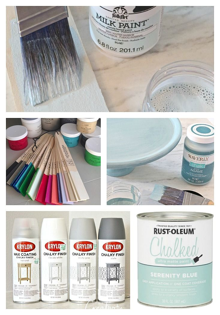 Chalk Paint, Milk Paint and Specialty Paints Differences Painting